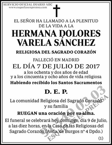 Hermana Dolores Varela Sánchez